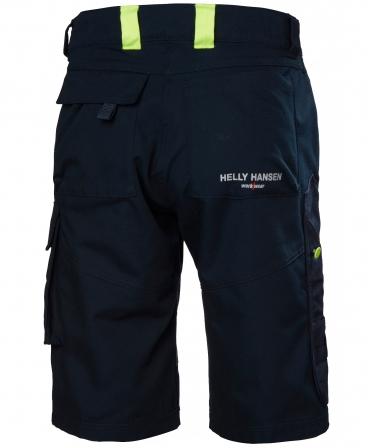 Pantaloni de lucru scurti Helly Hansen Aker, bleumarin/gri inchis, spate
