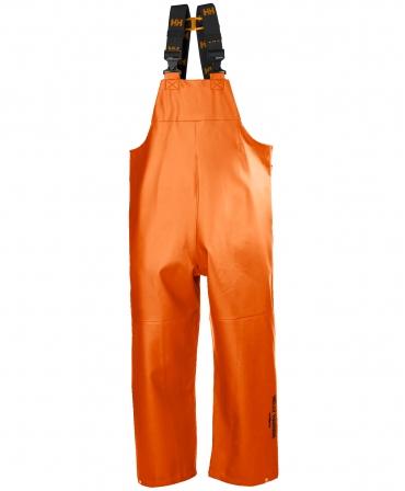 Pantaloni de lucru PVC cu bretele Helly Hansen Gale Rain, impermeabili, portocalii, fata