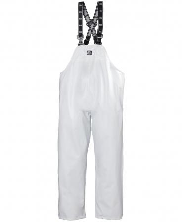 Pantaloni de lucru PVC cu bretele Helly Hansen Bodoe, impermeabili, albi, fata
