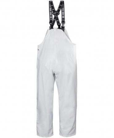 Pantaloni de lucru PVC cu bretele Helly Hansen Bodoe, impermeabili, albi, spate