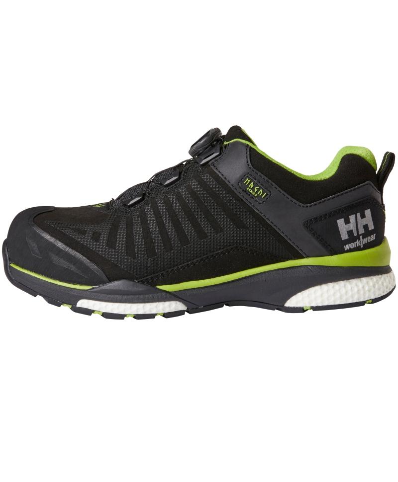 Pantofi protectie Helly Hansen Magni Low BOA, S3, negru/verde crud, din profil