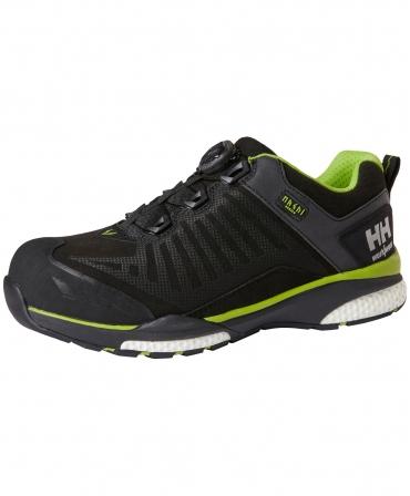 Pantofi protectie Helly Hansen Magni Low BOA, S3, negru/verde crud, din unghi