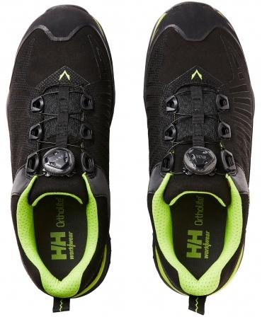 Pantofi protectie Helly Hansen Magni Low BOA, S3, negru/verde crud, vazuti de sus
