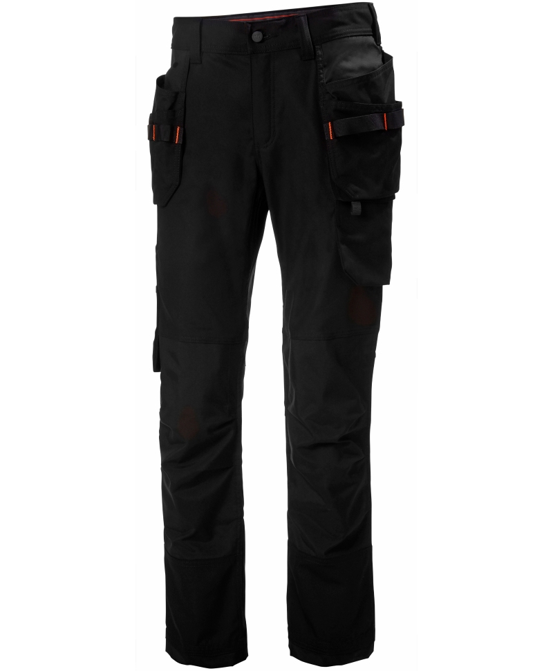 Pantaloni de lucru dama Helly Hansen Luna Construction, negri, fata