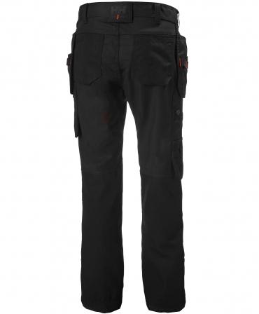 Pantaloni de lucru dama Helly Hansen Luna Construction, negri, spate