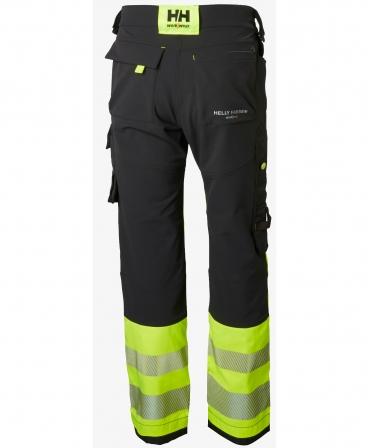 Pantaloni de lucru Helly Hansen ICU Construction, reflectorizanti, HVC1, galben/negru, spate