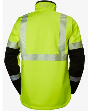 Jacheta Helly Hansen ICU Softshell, impermeabila, reflectorizanta, HVC1, galben/negru, spate