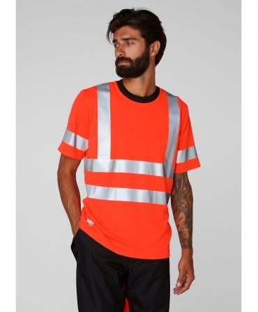 Tricou cu maneca scurta Helly Hansen Addvis, reflectorizant, HVC2, portocaliu, imbracat, fata
