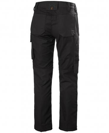Pantaloni dama de lucru Helly Hansen Luna Work, negri, spate