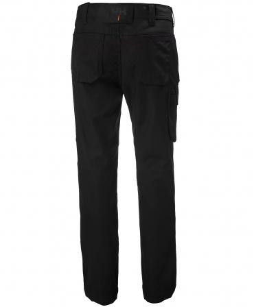 Pantaloni de lucru dama Helly Hansen Luna Service, negri, spate