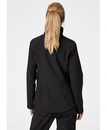 Jacheta dama Helly Hansen Luna Softshell, neagra, imbracata, spate