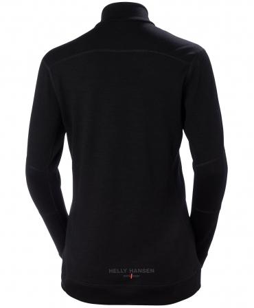 Bluza dama Helly Hansen Lifa Merino Half Zip, neagra, spate