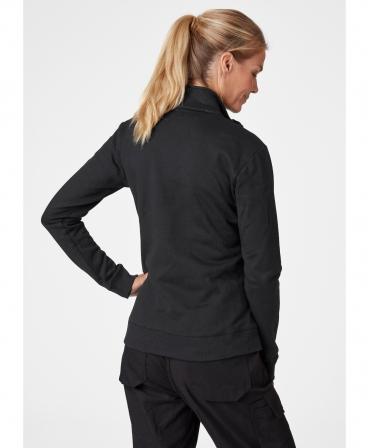 Hanorac dama Helly Hansen Manchester Zip, negru, imbracat, spate