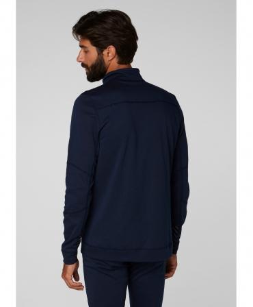 Bluza Helly Hansen Lifa Max Half Zip, bleumarin, imbracata, spate