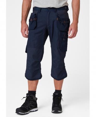 Pantaloni de lucru trei sferturi Helly Hansen Oxford Pirate, bleumarin, imbracati, fata