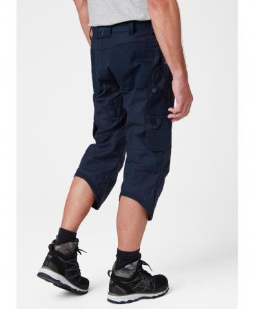 Pantaloni de lucru trei sferturi Helly Hansen Oxford Pirate, bleumarin, imbracati, spate