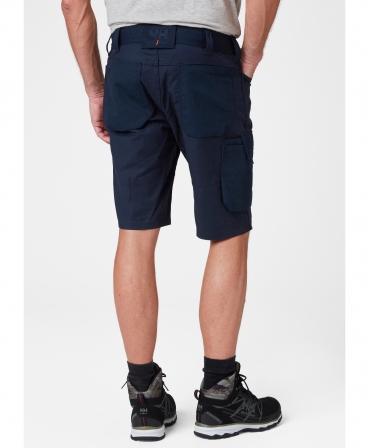 Pantaloni de lucru scurti Helly Hansen Oxford Service, bleumarin, imbracati, spate