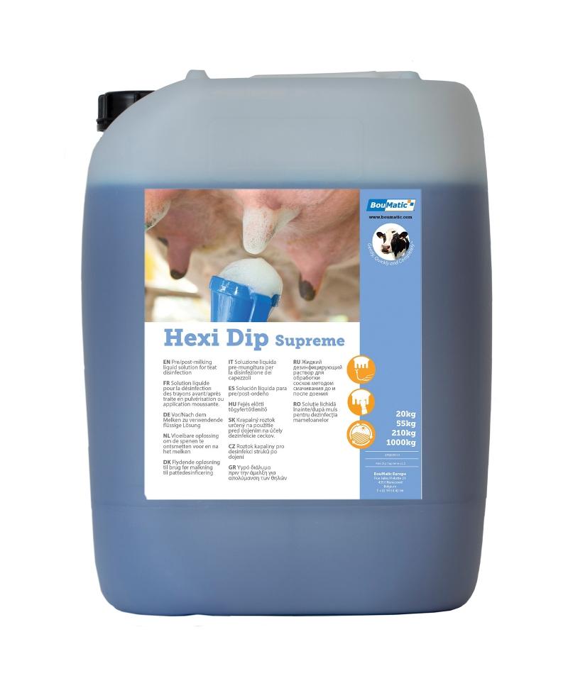 Dezinfectant mameloane BouMatic Hexi DIP Supreme pe baza de clor, bidon 20kg