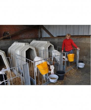 Cuseta individuala vitei Calf-Tel ECO cu gard metalic, vitel neintrerupt din supt