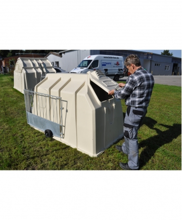 Cuseta individuala vitei Calf-Tel ECO cu gard metalic FlexyFence H&L, gura de ventilare