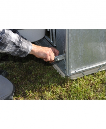 Cuseta individuala vitei Calf-Tel ECO, sistem blocare gard metalic FlexyFence H&L