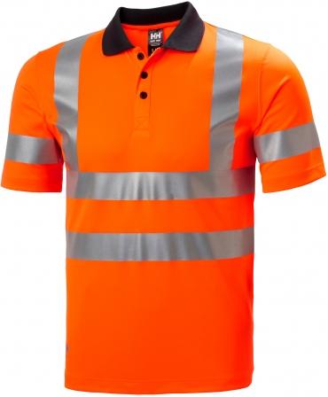 Tricou polo Helly Hansen Addvis, reflectorizant, HVC1, 2, portocaliu, fata