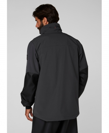 Hanorac Helly Hansen Storm Hybrid, impermeabil, negru, imbracata, spate