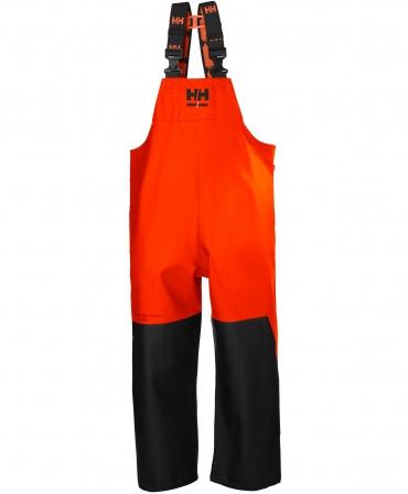 Pantaloni de lucru PVC cu bretele Helly Hansen Storm Rain, impermeabili, negru/portocaliu, fata