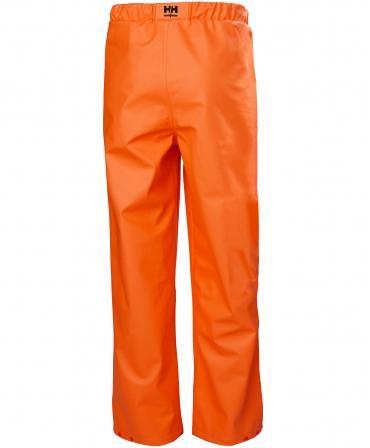 Pantaloni de lucru Helly Hansen Gale Rain, impermeabili, portocalii, spate