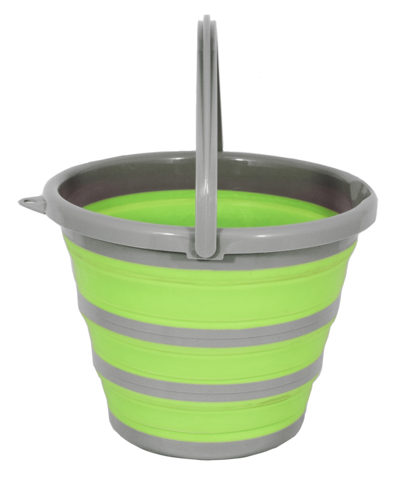 Galeata plastic pliabila 10 l cu maner plastic, Spear & Jackson Garden Tidy, verde