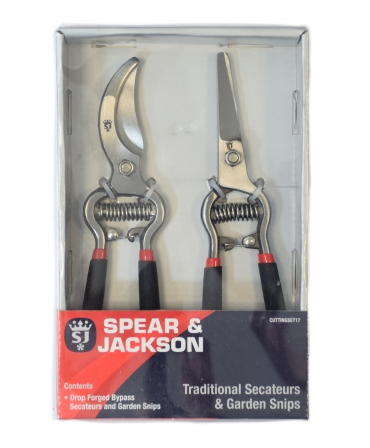 Set cadou cu doua foarfeci gradinarit, Spear & Jackson Vintage, ambalaj
