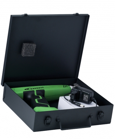 Ecornator electric portabil Express Farming Cosmos, asezat in cutie deschisa
