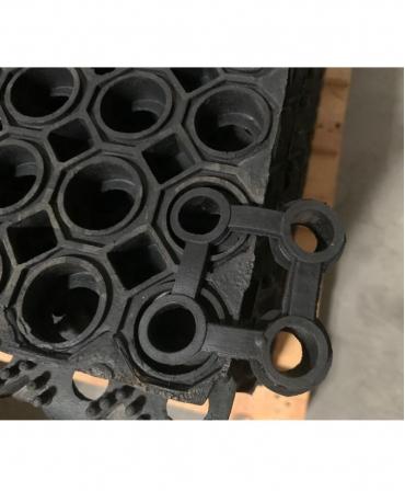 Covor de trafic din cauciuc perforat, Bioret CHALLENGER, posibilitate de asamblare