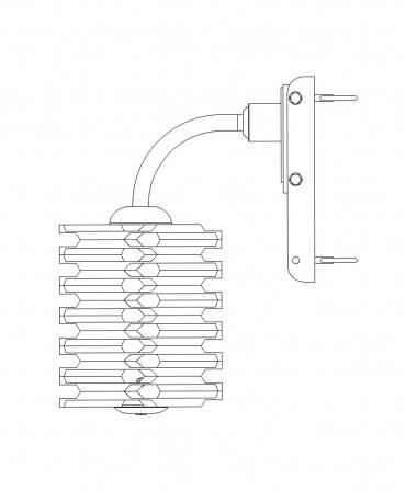Perie scarpinat animale mecanica, oscilanta, EasySwing Mini, schema