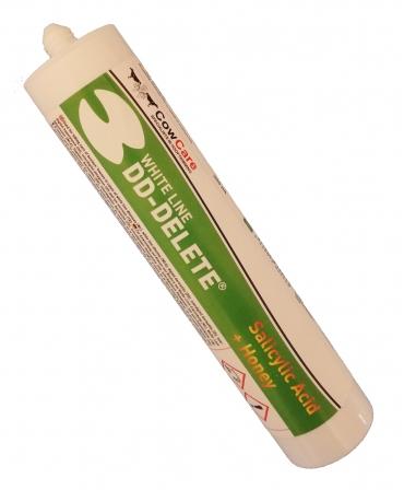 Pasta acid salicilic pentru ingrijirea ongloanelor, CowCare DD-Delete White, cartus 300 ml, fara cartus