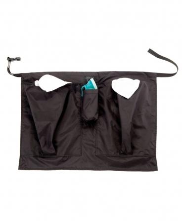 Sort mic protectie mulgator cu doua buzunare Udder Tech, nailon - rezistent la apa, cu buzunar pahar dipare, negru, R
