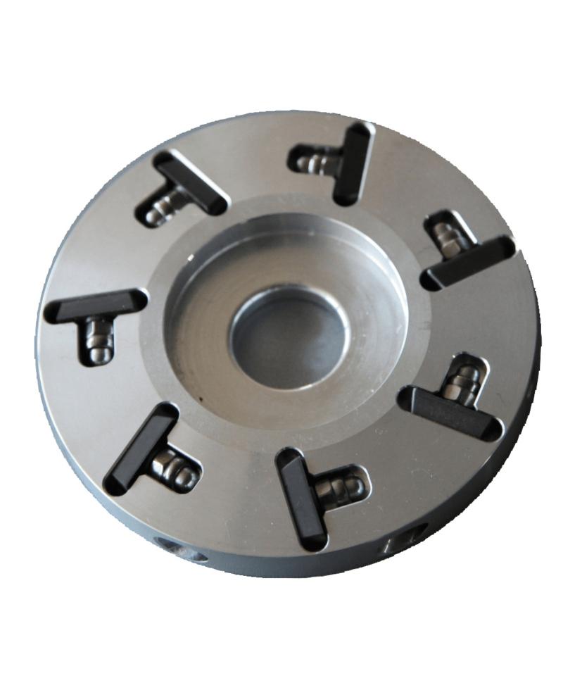 Disc trimaj ongloane 100 mm din aluminiu cu 7 lame, inchis, Demotec DL-Soft