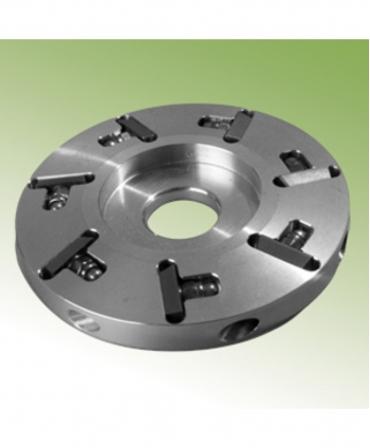 Disc trimaj ongloane 100 mm din aluminiu cu 7 lame, inchis, Demotec DL-Soft, vedere inclinata