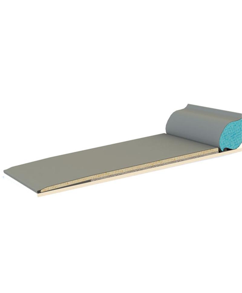 Saltea de odihna pentru vaci, din cauciuc si latex, OPTIMAX cu Aqua Board, 60mm grosime, cu panta, sectiune