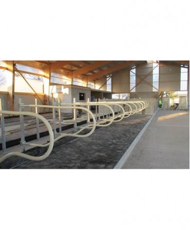 Saltea de odihna pentru vaci, din cauciuc si latex, OPTIMAX cu Aqua Board, 60mm grosime, cu panta, cuseta