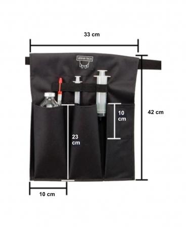 Buzunar extern acesorii medicale Udder Tech, poliester - rezistent la apa, negru, dimensiuni