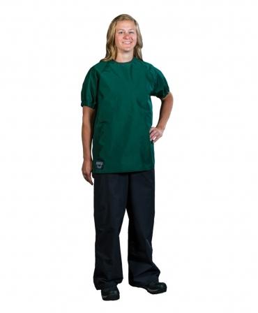 Bluza veterinar cu maneca scurta Udder Tech, nailon - impermeabila, verde, fata