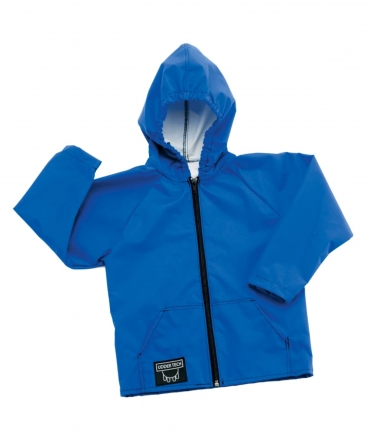 Jacheta copii cu gluga Udder Tech, nailon - impermeabila, fermoar intreg, albastra
