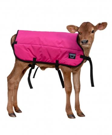 Jacheta vitei Udder Tech, nailon - rezistenta la apa, roz/negru, pe vitel