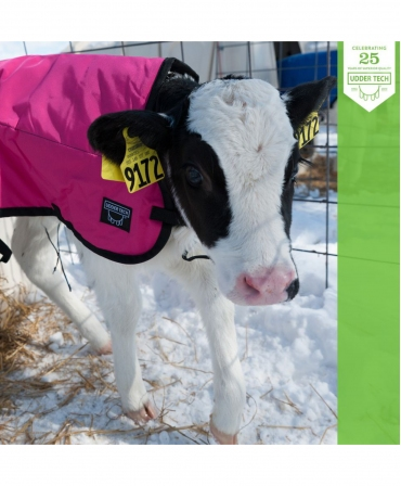 Jacheta vitei Udder Tech, nailon - rezistenta la apa, roz/negru, iarna