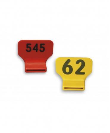 Set 25 etichete imprimate, plastic, verticale pentru zgarda 4 cm, Akroh, 1-25, produs