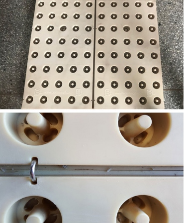 Platforma compozit cu membrana din cauciuc, FEEDING STEP, pentru stationarea animalelor la aleea de furajare, detaliu