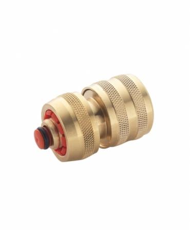Conector cu opritor pentru furtun 1/2″ din alama, Spear & Jackson, produs