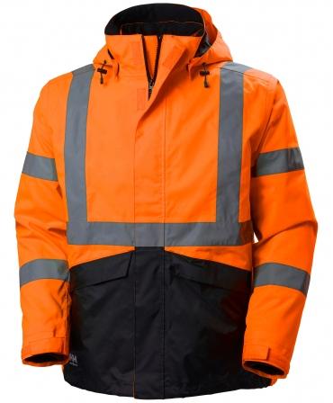 Geaca Helly Hansen Alta Shell, reflectorizanta, HVC3, portocaliu/gri inchis, fata