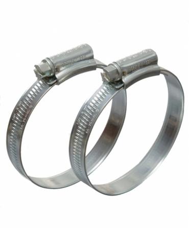 Coliere metalice zincate cu surub, diametru 130-160mm, set 10 bucati, Eclipse, produs